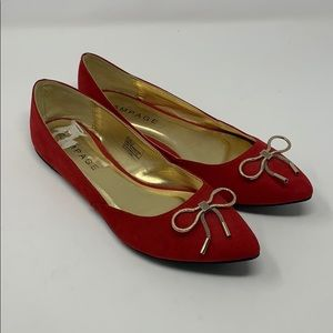 Rampage red bow flats Size 10